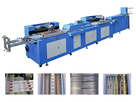 WET-4001S-02 2Colors Label Ribbons Automatic screen printing machine